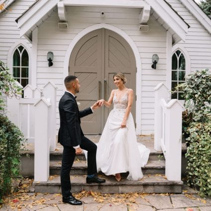 The Doctor's House featured in Michelle and Jorge's Super Sweet Fall Micro-Wedding