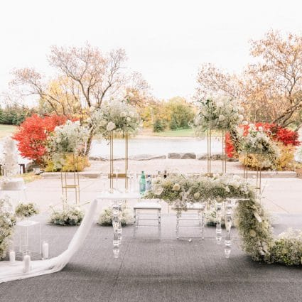 The Manor featured in Michelle and Jorge's Super Sweet Fall Micro-Wedding