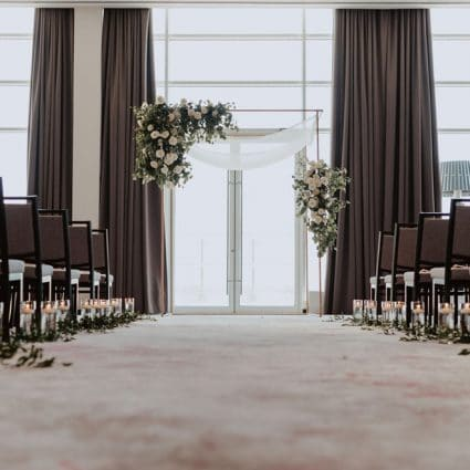 Hotel X Toronto featured in Corrin and Albert's Rooftop Wedding at Hotel X