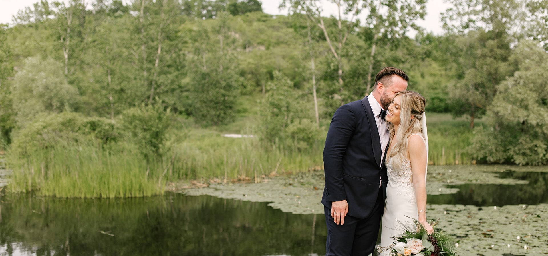 Hero image for Shannon and Mike's Romantic Nuptials at Evergreen Brick Works