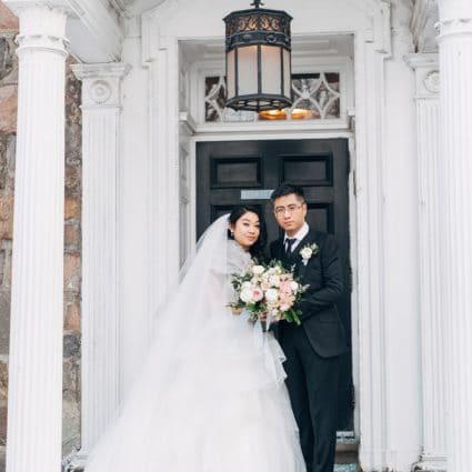 Surmesur featured in Tina and Kevin's Intimate Winter Wedding at the Estates of Su…