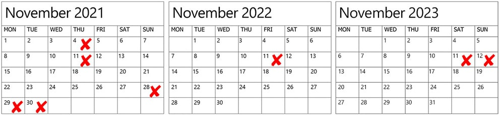 wedding dates to avoid in 2021 2022 2023, 4