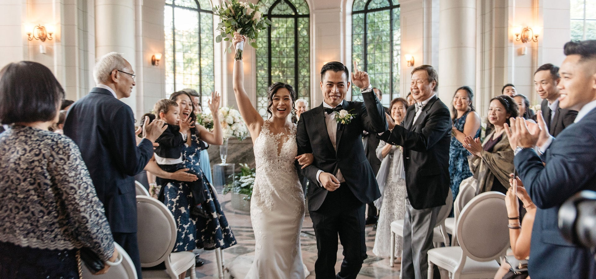 Hero image for Cassie and Phil's Timelessly Romantic Wedding at Casa Loma