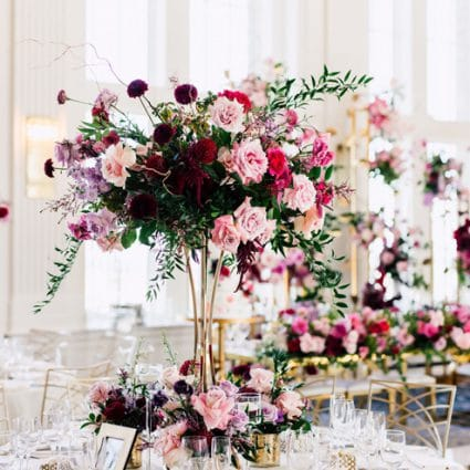 Flowers Time featured in Alessandra and Michael's Luxurious Nuptials at the King Edwar…