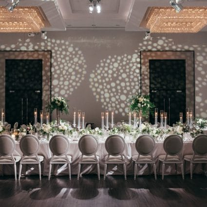 Luxe Rentals featured in Jessica and Anthony's Luxurious Wedding at Chateau Le Parc