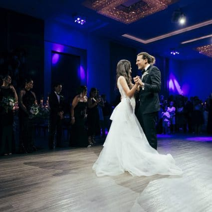 Party Crew Entertainment featured in Jessica and Anthony's Luxurious Wedding at Chateau Le Parc