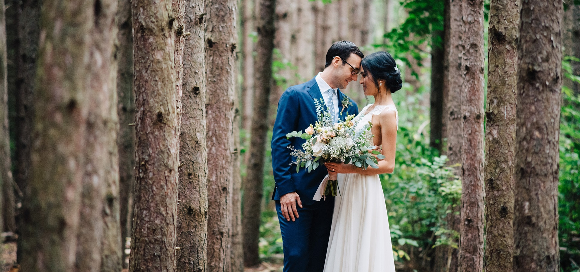 Hero image for Linda and Jim's Rainy Day Wedding at Kortright Event Centre for Conservation