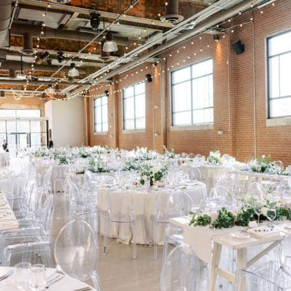 Contemporary Furniture Rentals featured in Jessica and Matt's Bright Big Day at The Symes