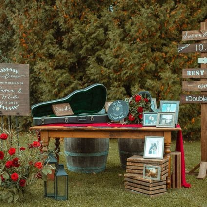 Glamourous Affairs featured in Susan and Mike's Micro Wedding at Holland Marsh Wineries