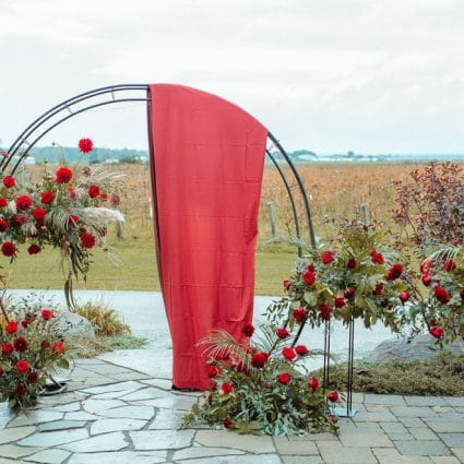Destiny Weddings featured in Susan and Mike's Micro Wedding at Holland Marsh Wineries