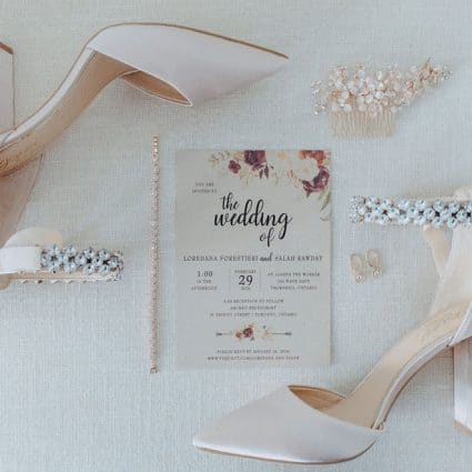 The Polka Dot Paper Shop featured in Loredana and Sal's Gorgeous Wedding at Archeo