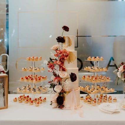 Love in Bloom Cakes featured in Loredana and Sal's Gorgeous Wedding at Archeo