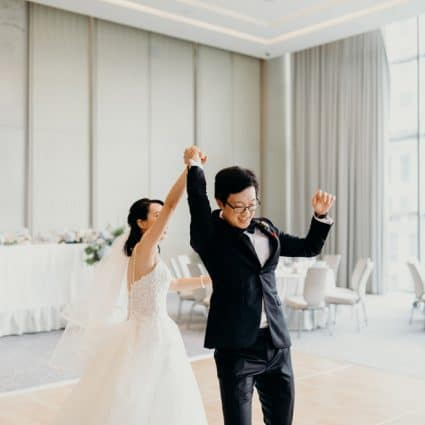 Signature Entertainment featured in Kam and Laurence's Sweet Wedding at the Four Seasons Hotel