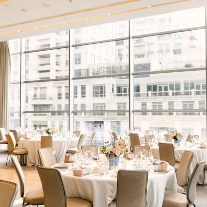 Four Seasons Hotel Toronto featured in Kam and Laurence's Sweet Wedding at the Four Seasons Hotel