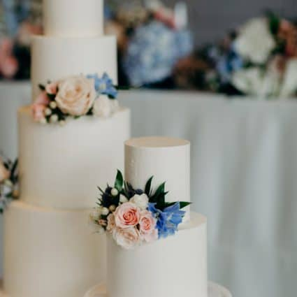 M Cake Design featured in Kam and Laurence's Sweet Wedding at the Four Seasons Hotel