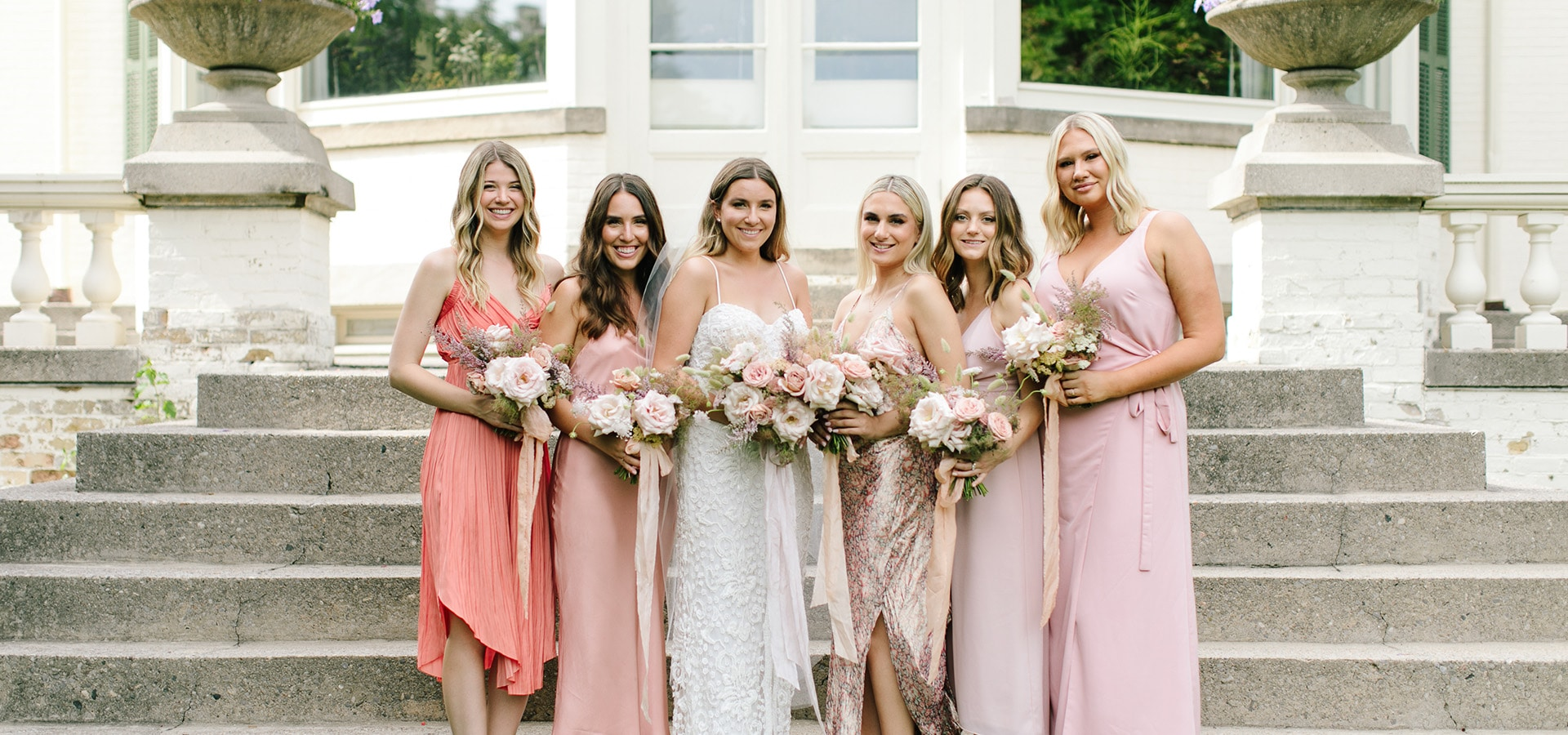 Hero image for 5 Tips to Flawlessly Pull Off Mismatched Bridesmaid Dresses