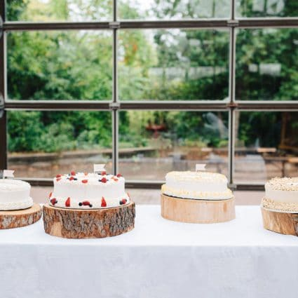 Bloomers featured in Linda and Jim's Rainy Day Wedding at Kortright Event Centre f…