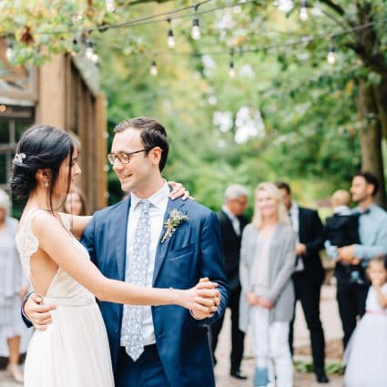 Nth Degree Entertainment Group featured in Linda and Jim's Rainy Day Wedding at Kortright Event Centre f…