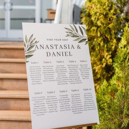 Paperless Post featured in Anastasia and Daniel's Palais Royale Micro Wedding