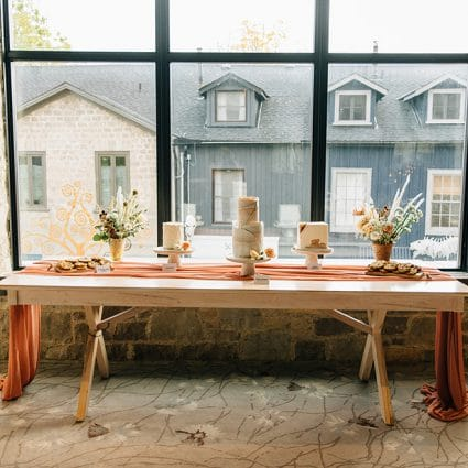 Sassy and Sweet featured in Katie and Phil's Gorgeous Wedding at Elora Mill