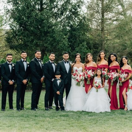 Whim Event Planning & Design featured in Ashley and Cliten's Outdoor Wedding at the Arlington Estate