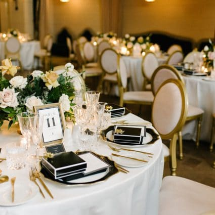 Around the Table featured in Dina and Chris' Elegant Wedding at the Windsor Arms Hotel