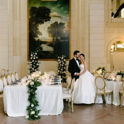 Vivid & Vogue featured in Dina and Chris' Elegant Wedding at the Windsor Arms Hotel