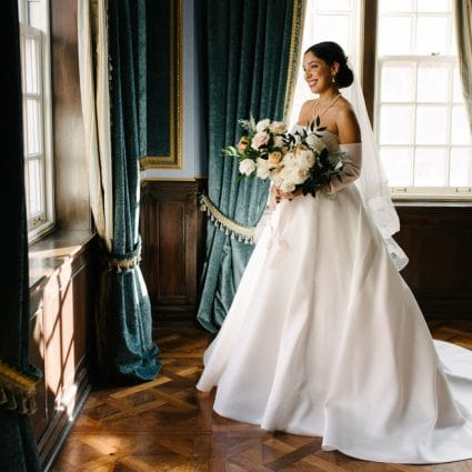 Dame Beauty featured in Dina and Chris' Elegant Wedding at the Windsor Arms Hotel