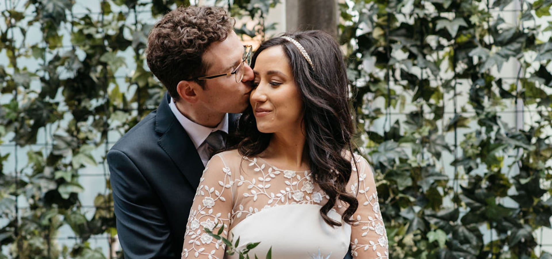 Hero image for Lia and Taylor's Intimate Wedding at Cluny Bistro & Boulangerie
