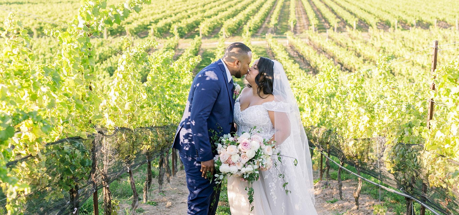 Hero image for Stephanie and Kemar's Vineyard Wedding at Ravine Vineyard