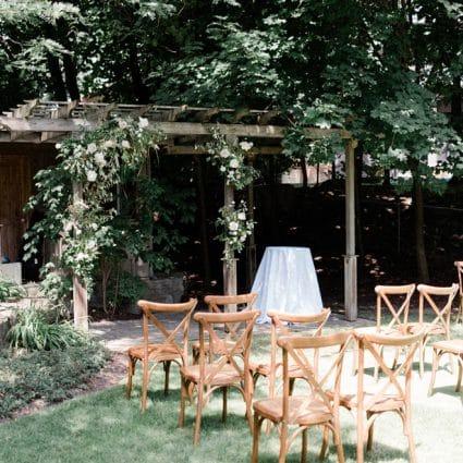 Juniper Event Co. featured in Lauren and Kane's Super Sweet Backyard Wedding