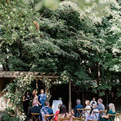 All Seasons Weddings featured in Lauren and Kane's Super Sweet Backyard Wedding