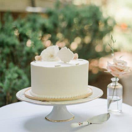 Sweet Celebrations featured in Lauren and Kane's Super Sweet Backyard Wedding