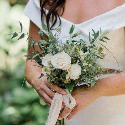 Rosehill Blooms featured in Lauren and Kane's Super Sweet Backyard Wedding