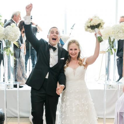Assaf Friedman featured in Candice and Cory's Stunning Wedding at The Globe and Mail Centre