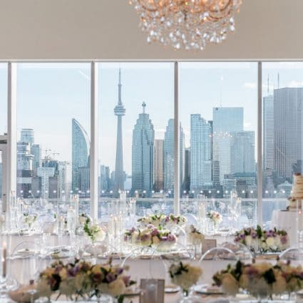 DT Floral & Décor featured in Candice and Cory's Stunning Wedding at The Globe and Mail Centre