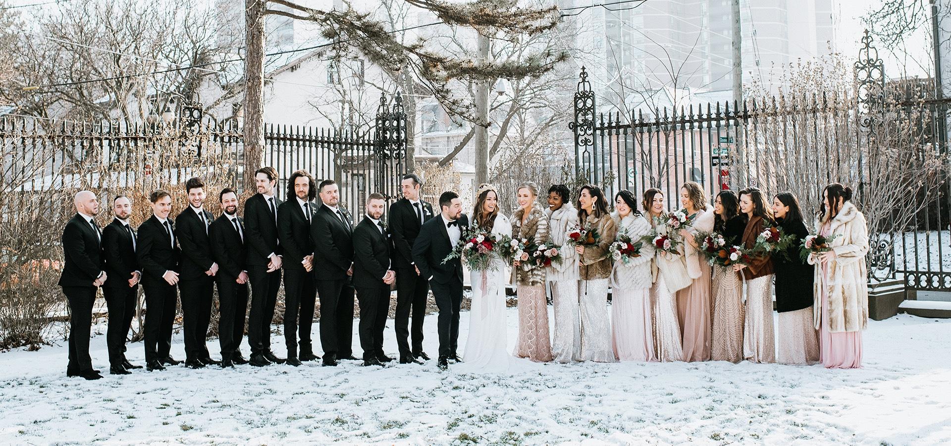 Hero image for Kara and Michael's Romantic Winter Wedding at Liuna Station