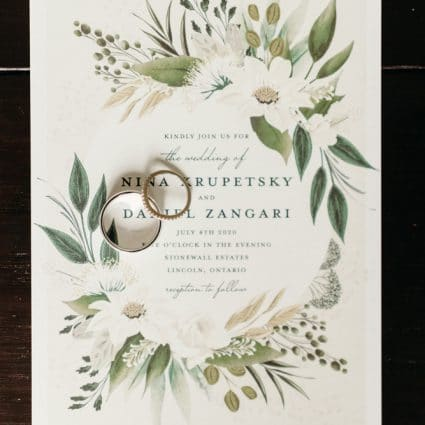 Paperless Post featured in Nina and Dan's Sweet Barn Wedding at Stonewall Estates