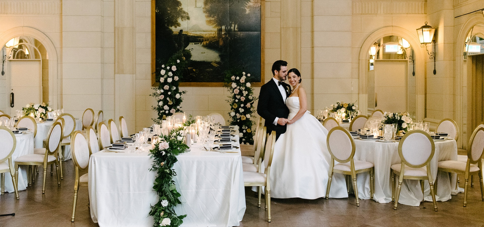 Hero image for Dina and Chris' Elegant Wedding at the Windsor Arms Hotel