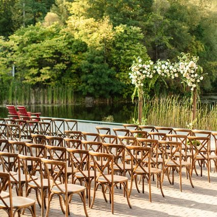 Evergreen Brick Works featured in 12 Outdoor Wedding Venues with Gorgeous Views