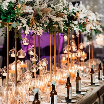 """Bliss Rentals & Events Inc featured in Julia and William """"Leap into Love"""" at Chateau Le Parc"""