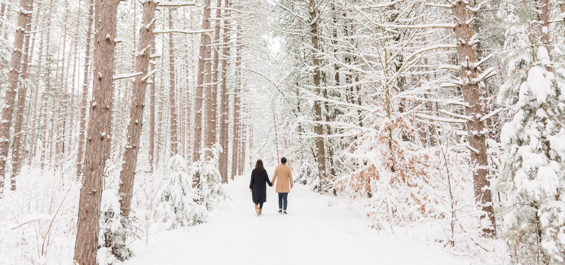 Hero image for Toronto Wedding Photographers Showcase the Beauty of Winter Photography