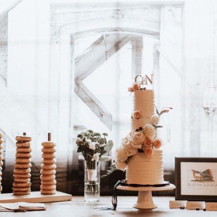 Love in Bloom Cakes featured in Nadine and Curtis' Romantic Wedding at Archeo