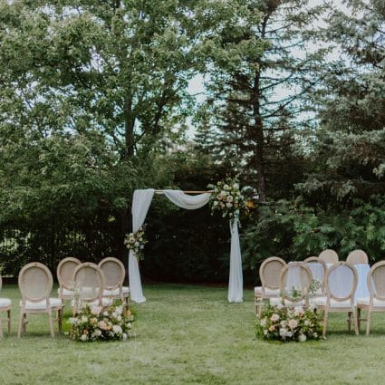Event Rental Group featured in Dreamy Inspiration for an Outdoor Intimate Wedding