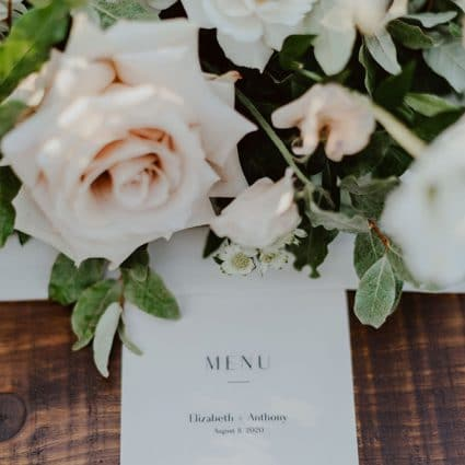Ink and Aisle featured in Dreamy Inspiration for an Outdoor Intimate Wedding