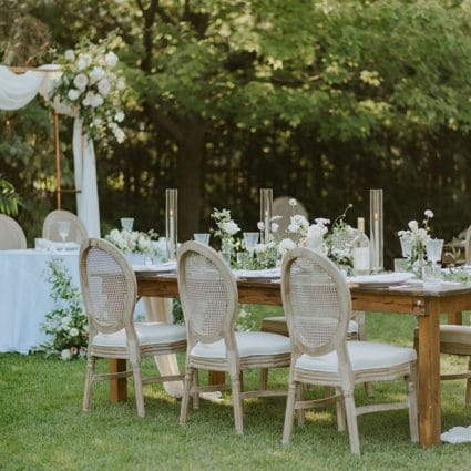 Table Tales featured in Dreamy Inspiration for an Outdoor Intimate Wedding