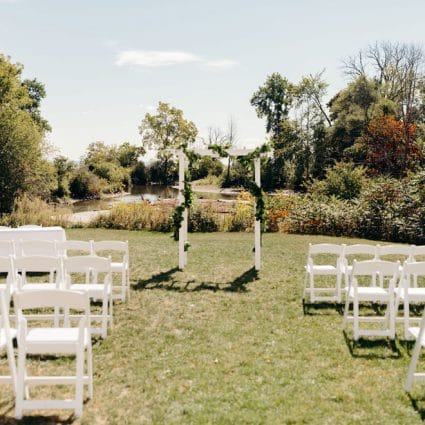 Harding Waterfront Estate featured in Brandi and David's Sweet Ceremony at Harding Waterfront Estate