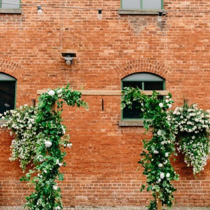 Ruby Florist featured in Cheryl and Chris' Romantic Summer Wedding at Archeo