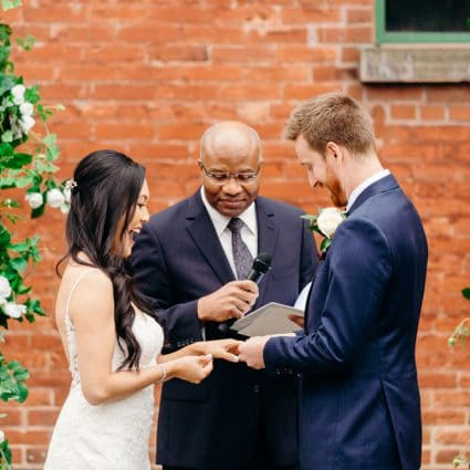 Garry Francis Officiating Service featured in Cheryl and Chris' Romantic Summer Wedding at Archeo