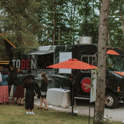 Toben Food by Design featured in Cydney and Jay's Sweet Summer Cottage Wedding